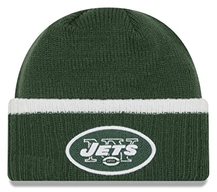 the best attitude 314d4 0711c New Era New York Jets Ribbed Up Team Cuffed Knit Hat, One Size Dark Green