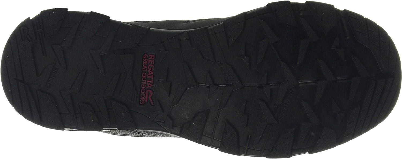 Regatta Damen Kota Mid Ii' Waterproof Hiking Boots Trekking-& Wanderstiefel, Schwarz Schwarz Black Beetroot Hv1