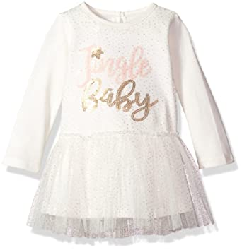28275d685ed3 Amazon.com  Mud Pie Girls  Christmas Jingle Baby Long Sleeve Mesh ...