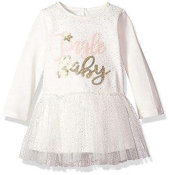 1467a5a9eecb Amazon.com  Mud Pie Girls  Christmas Jingle Baby Long Sleeve Mesh ...