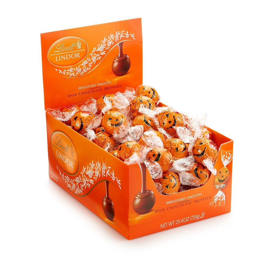 Lindt LINDOR Halloween Milk Chocolate Truffles 60 Count Box by Lindt