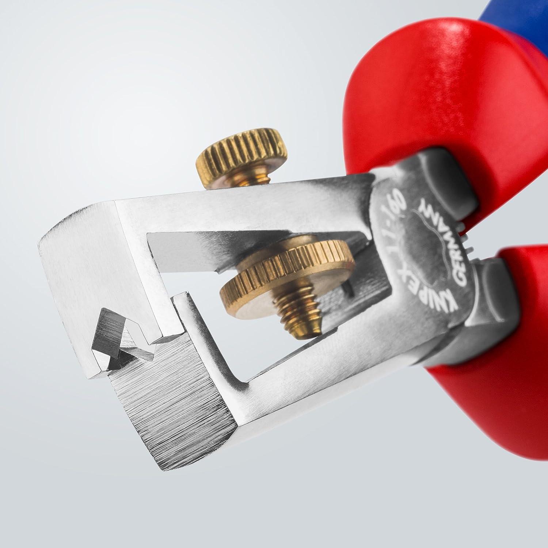 verchromt, mit Mehrkomponenten-H/üllen, 160 mm Knipex 11 05 160 Abisolierzange