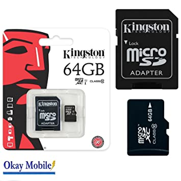 Original Kingston MicroSD SDHC Tarjeta de memoria de 64 GB ...
