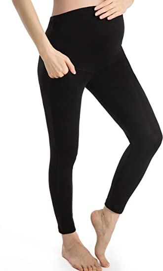 Thick Heavy /& Warm Maternity Cotton Leggings Ankle Length PREGNANCY