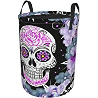 Oxford Laundry Bag,Cattle Dog Florals Large Laundry Basket Foldable Clothes Bag With Drawstring Top Closure Lid Laundry Hamper Or Basket