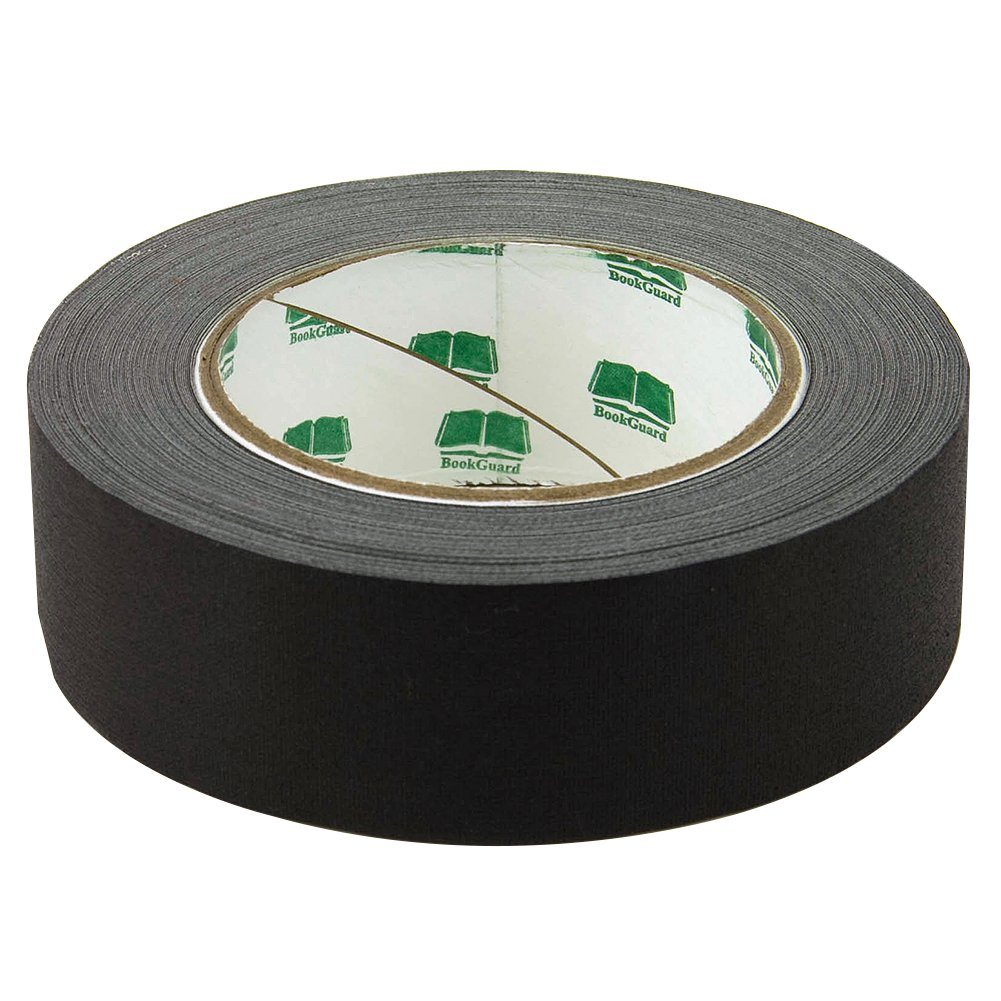 BookGuard Premium Cloth Book Binding Repair Tape 1 1/2''W x 30yd Roll (Black)