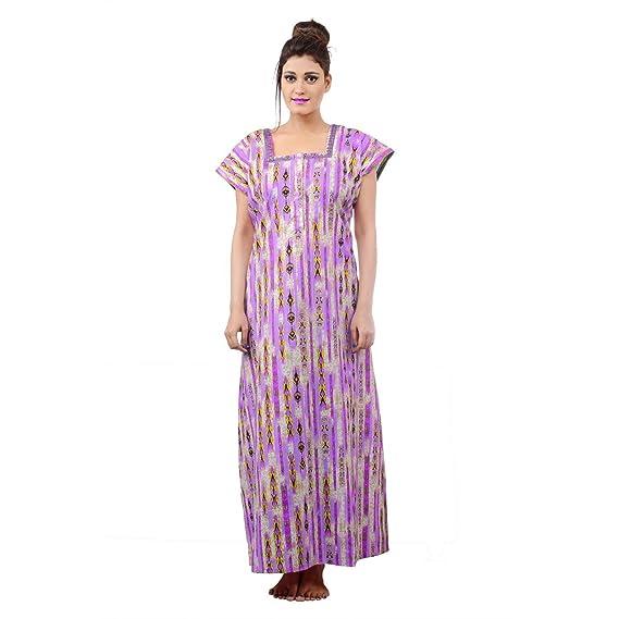 Farry Women Cotton Nighty, Gown, Sleepwear, Nightwear, Maxi - Soft ...