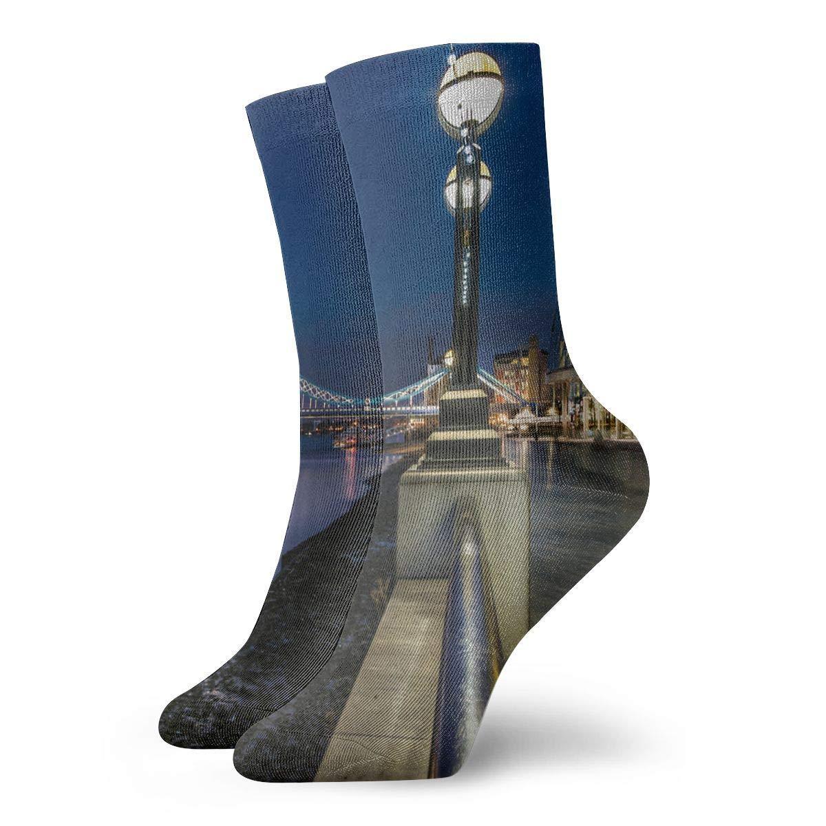 WEEDKEYCAT Tower Bridge City Adult Short Socks Cotton Cozy Socks for Mens Womens Yoga Hiking Cycling Running Soccer Sports