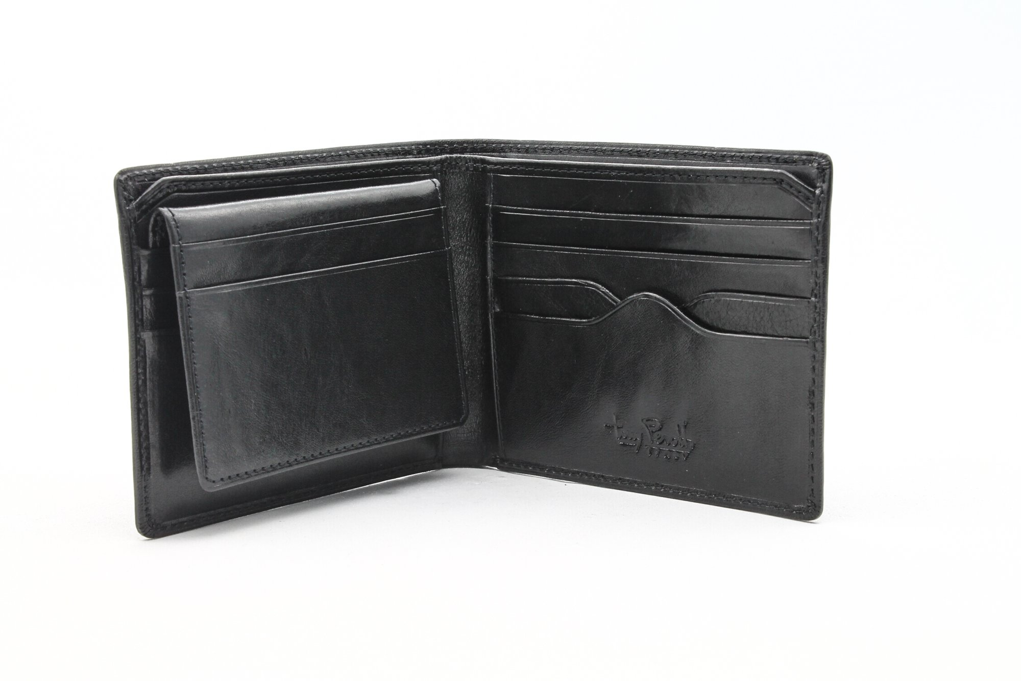 Tony Perotti Italian Leather Bifold Wallet With Removable Id Card Case, Black Bi-Fold Wallet, Black by Luggage Depot USA, LLC