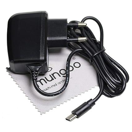 Cargador Tipo C de 1 m Apto para Motorola Moto G7, G7 Plus, G7 Power, G7 Play Cable de Carga USB 2 A OTB con paño de Limpieza de Pantalla mungoo