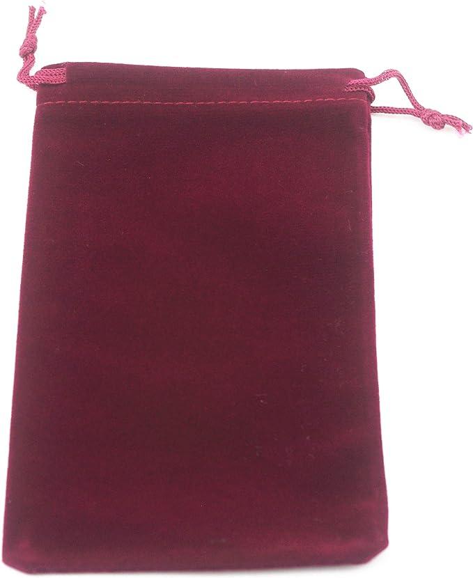 eco friendly pouch eco friendly gift bag Crochet velvet coral red mini drawstring pouch gift bag set gift bag