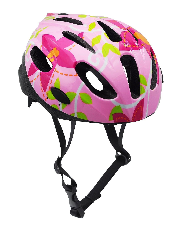 BeBeFun Safety Adjustable Size Kids Babies Bike Multi-Sports Helmet for Boy 3-7 Years Old Lighting Theme (Pink and 6pcs Pads) Lighting theme pink and pads