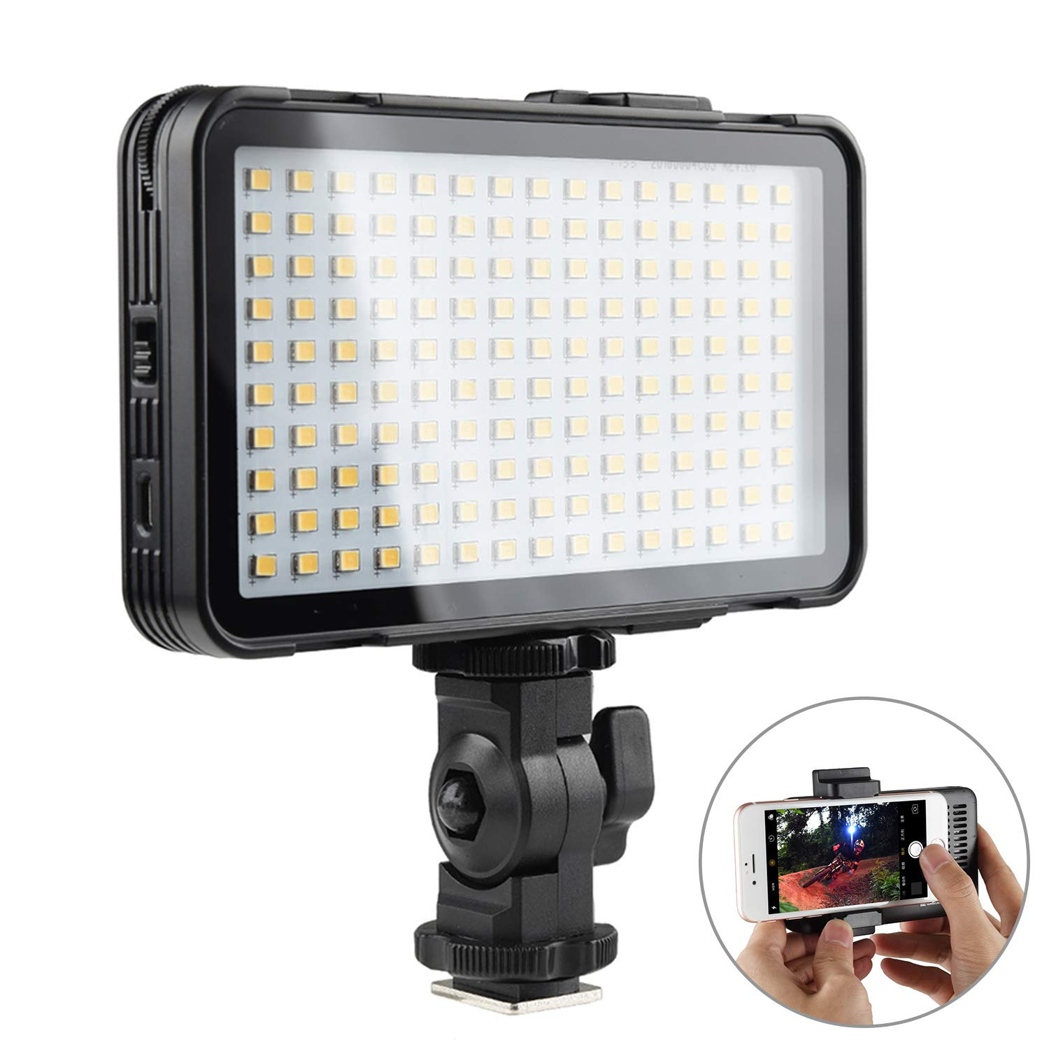 Godox On-Camera Video Lights LEDM150, Mobile Phone LED Video Light, Li Battery USB Charge Port Dimmable Ultra High Power LED Panel Video Light for Smart Phones Cameras by Godox