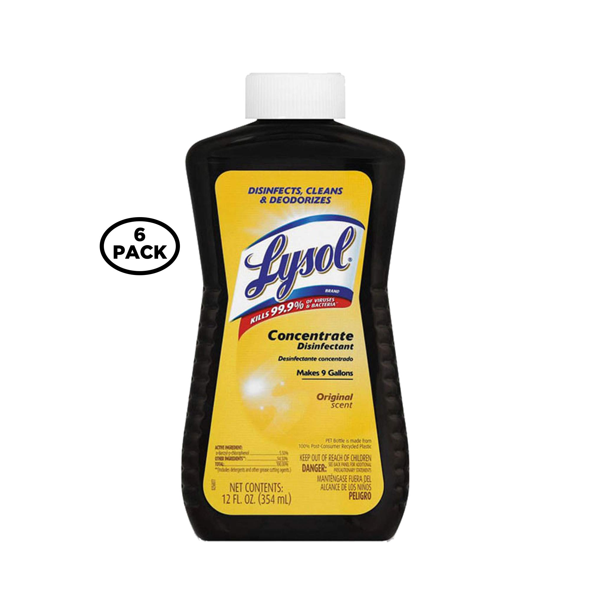 Lysol Concentrate All Purpose Cleaner Disinfectant, 12 Ounce (Pack of 6)