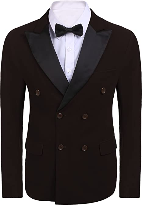 Amazon.com: coofandys Mens Slim Fit Casual un botón Blazer ...