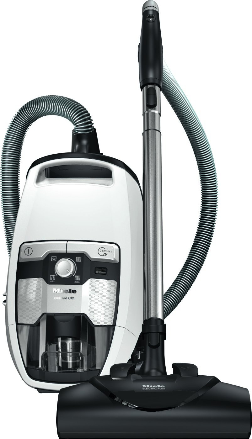 Miele Blizzard CX1 Cat & Dog Bagless Canister Vacuum Lotus White