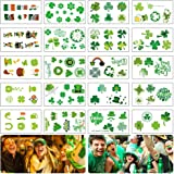 DARKLATER St Patricks Day Tattoos,Shamrock Tattoos,Saint Patricks Day Temporary Tattoos Stickers for Face,Clover Tattoo,