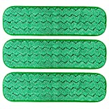 TEBEST 18'' Microfiber Replacement Mop Pads, Standard Looped Flat Wet Mop Home and Commercial Cleaning Refills (Green)