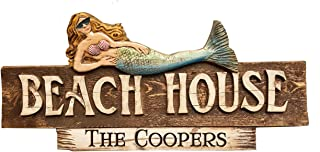 product image for Piazza Pisano Beach House Mermaid Decor Personalized Sign