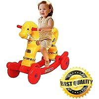 Smart Store 2 in 1 Baby Horse Rider for Kids 1-5 Years Birthday Gift for Kids/Boys/Girls (Yellow)