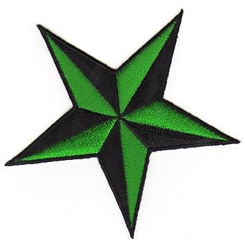 Aufnäher Nautischer Stern dunkelblau-weiß Patch