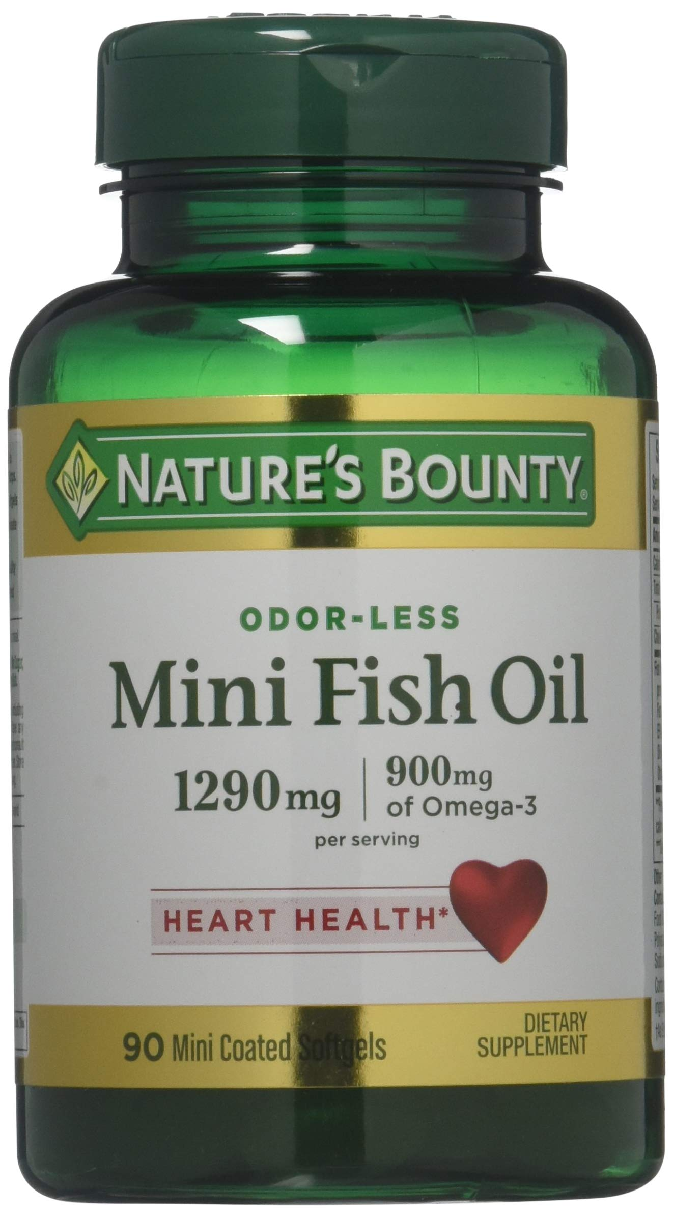 Nature's Bounty Fish Oil 1290 mg, 90 Mini Odorless Softgels by Nature's Bounty