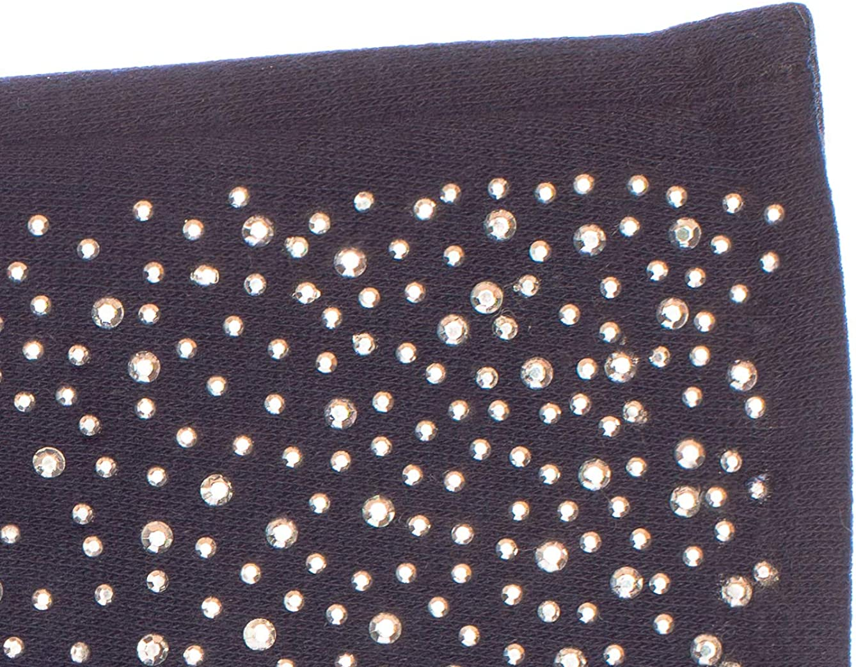 stretch EEM Damen Jersey Handschuhe ERIKA mit Touch-Funktion und Strass-Applikation aus Baumwolle smartphone