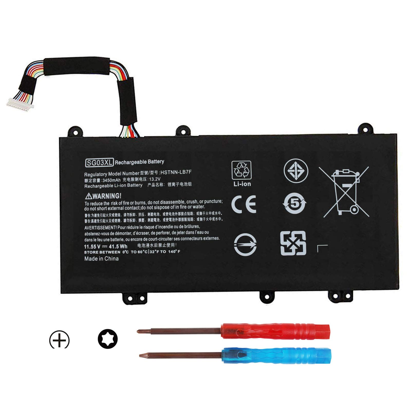 Bateria SG03XL 849048-421 849314-850 para HP Envy M7 Envy 17