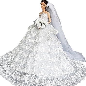 Creation® calidad hecha a mano Princesa Multi-lace Fiesta de bodas Blanco de vestido
