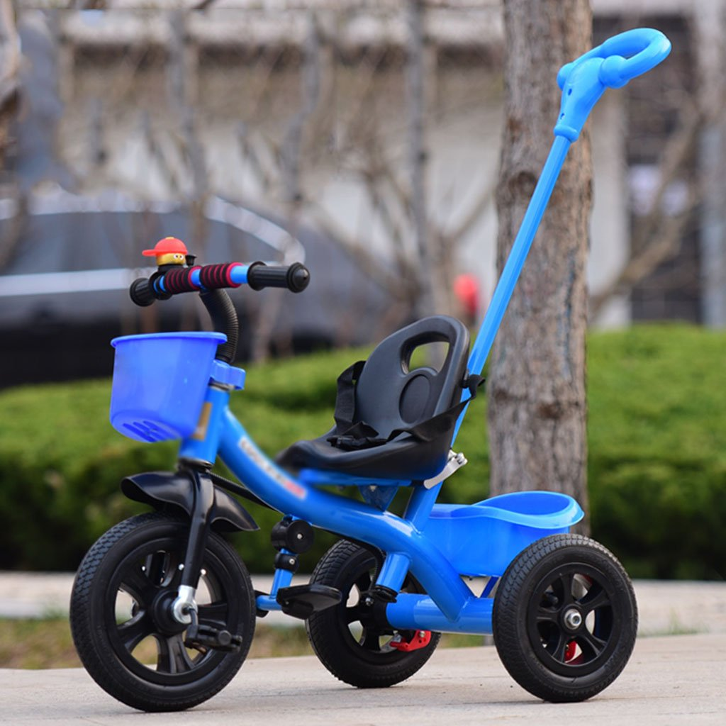 Stroller Toys Children's tricycle detachable push baby bike 1-3-5 year old child bike (Color : Blue)