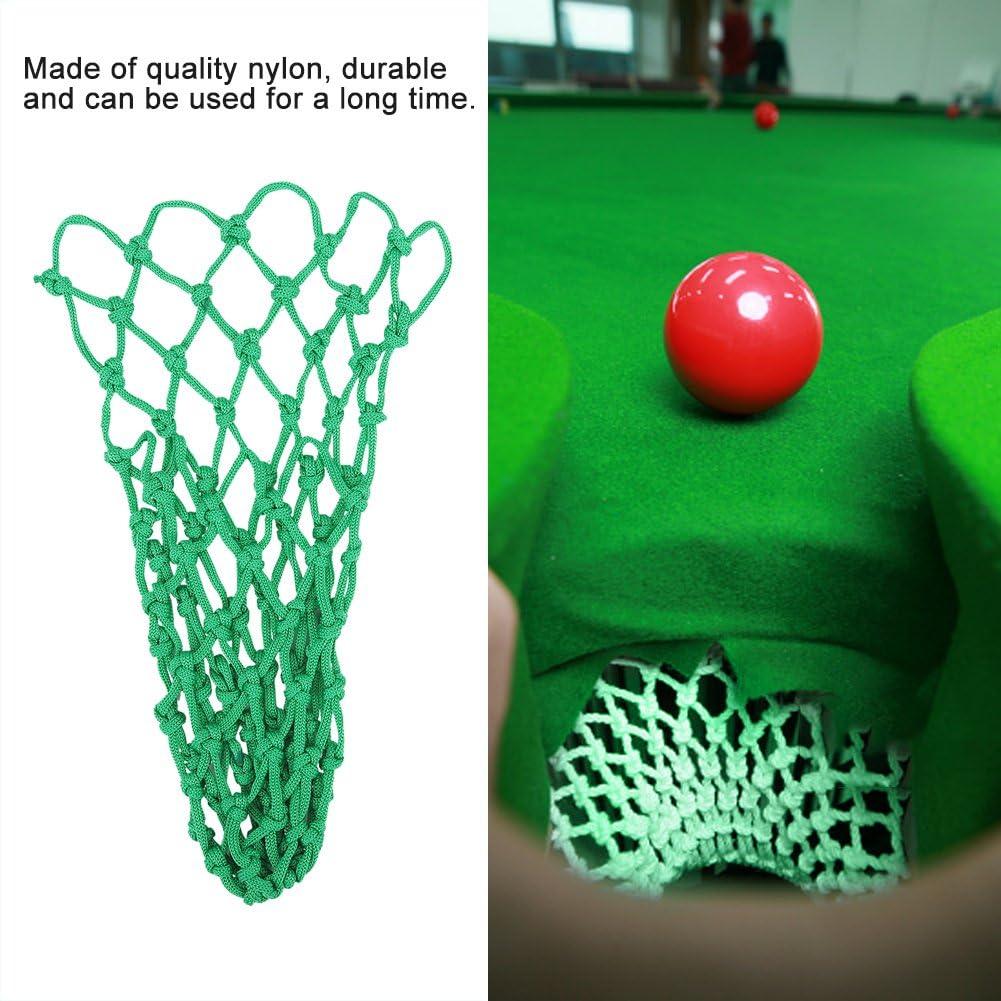 DaMohony Billard-Taschen-Set Nylon-Netztasche Zubeh/ör Billardtaschen Ersatz