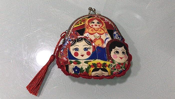 Monedero hecho a mano tela matriuskas: Amazon.es: Handmade