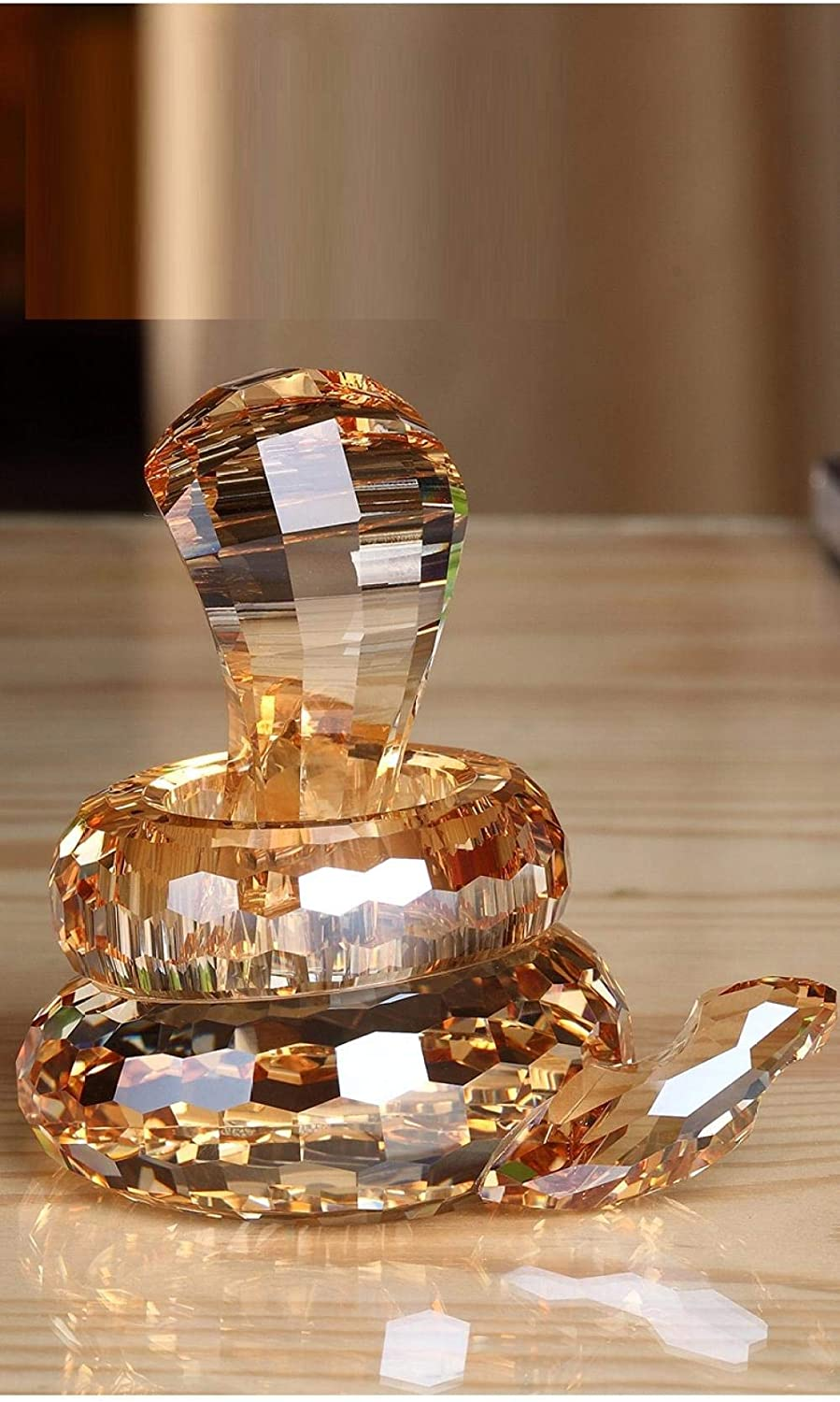 LUISONG YH-KE Crafts Glass Statue Crystal Figurines Ornaments Car Decoration Crystal Snake Creative Car Car Decoration Home Supplies Jewelry Decoration