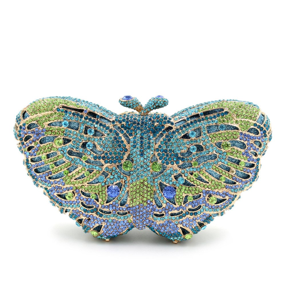 10  Flada Ladies Luxury Handbags colorful Butterfly Shape Evening Clutch Purse Bags