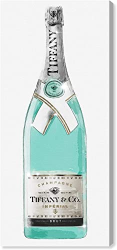 Oliver Gal 'Priceless Champagne Tall' The Fashion Wall Art Decor Collection Contemporary Premium Canvas Art Print
