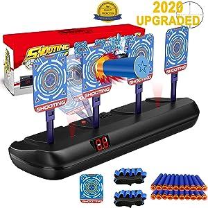 Fibevon Target for Nerf Guns, Electric Scoring Auto Reset Shooting Digital Target for Blaster Elite/Mega/Rival Series Guns , Ideal Gift Toy for Kids, Teens, Boys & Girls
