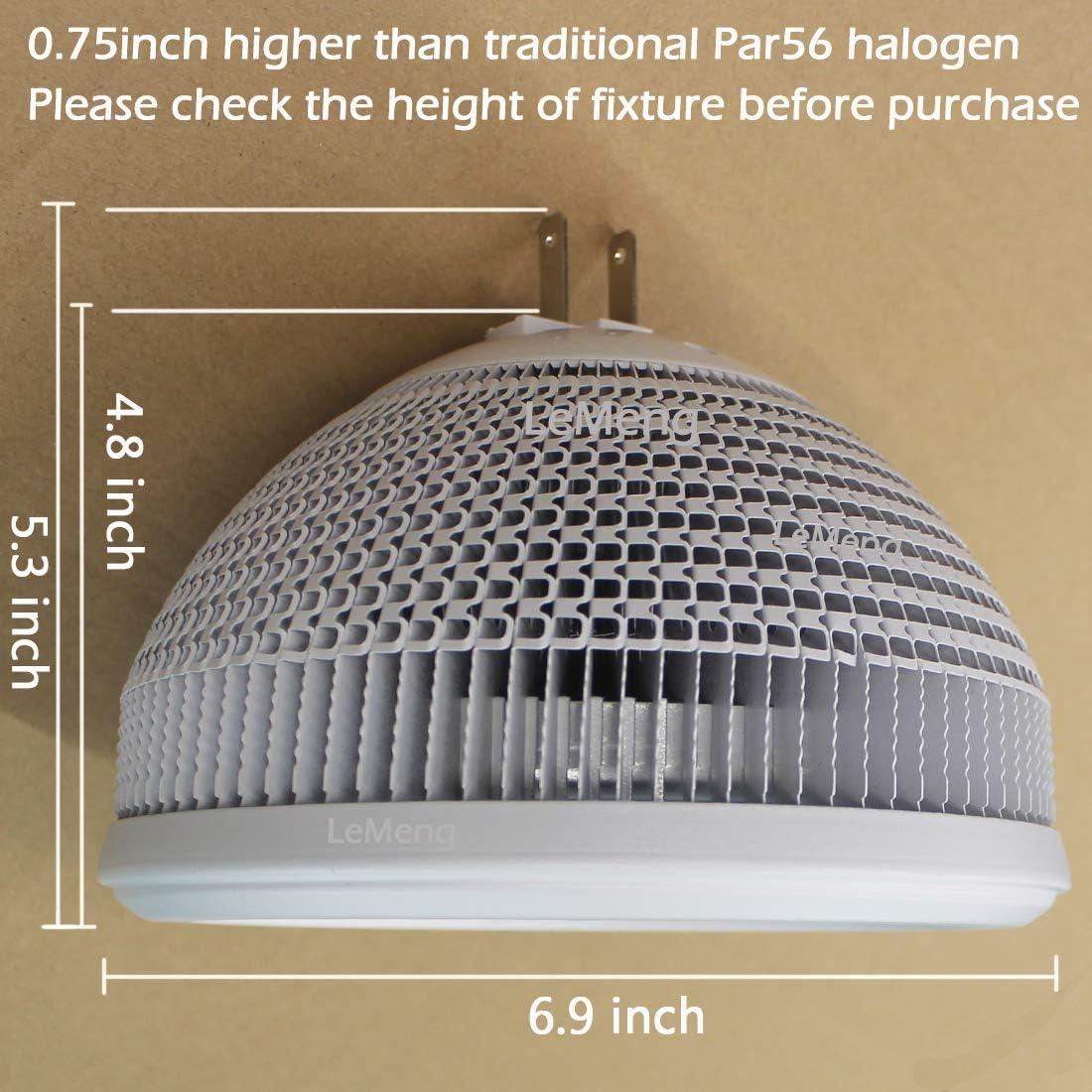 300Watt Equivalent Par 56 Light 3000K Soft Warm White Spot Light 3000lm 30/°Beam Angle NSP Par-56 GX16D Base LeMeng 30W Par56 LED Bulb Dimmable