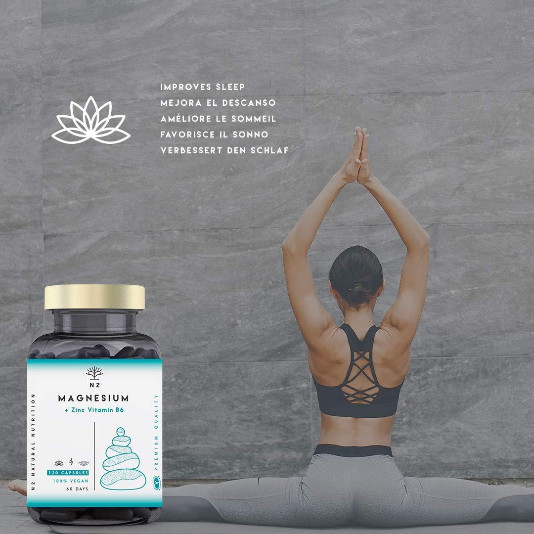 ZMA Magnesio Zinc Vitamina B6 Aumenta Nivel Testosterona Energía Rendimiento Deportivo Reduce Cansancio Mejor Sueño Alta Concentración 120 Cápsulas ...