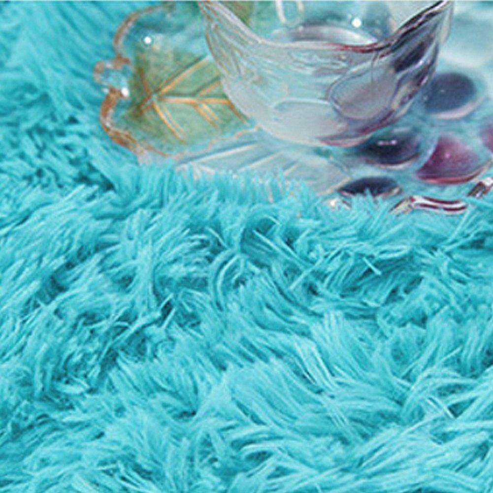 Amazon.com : Ustide Soft Shag Pile Bedroom Rug Velvet Children Rugs ...