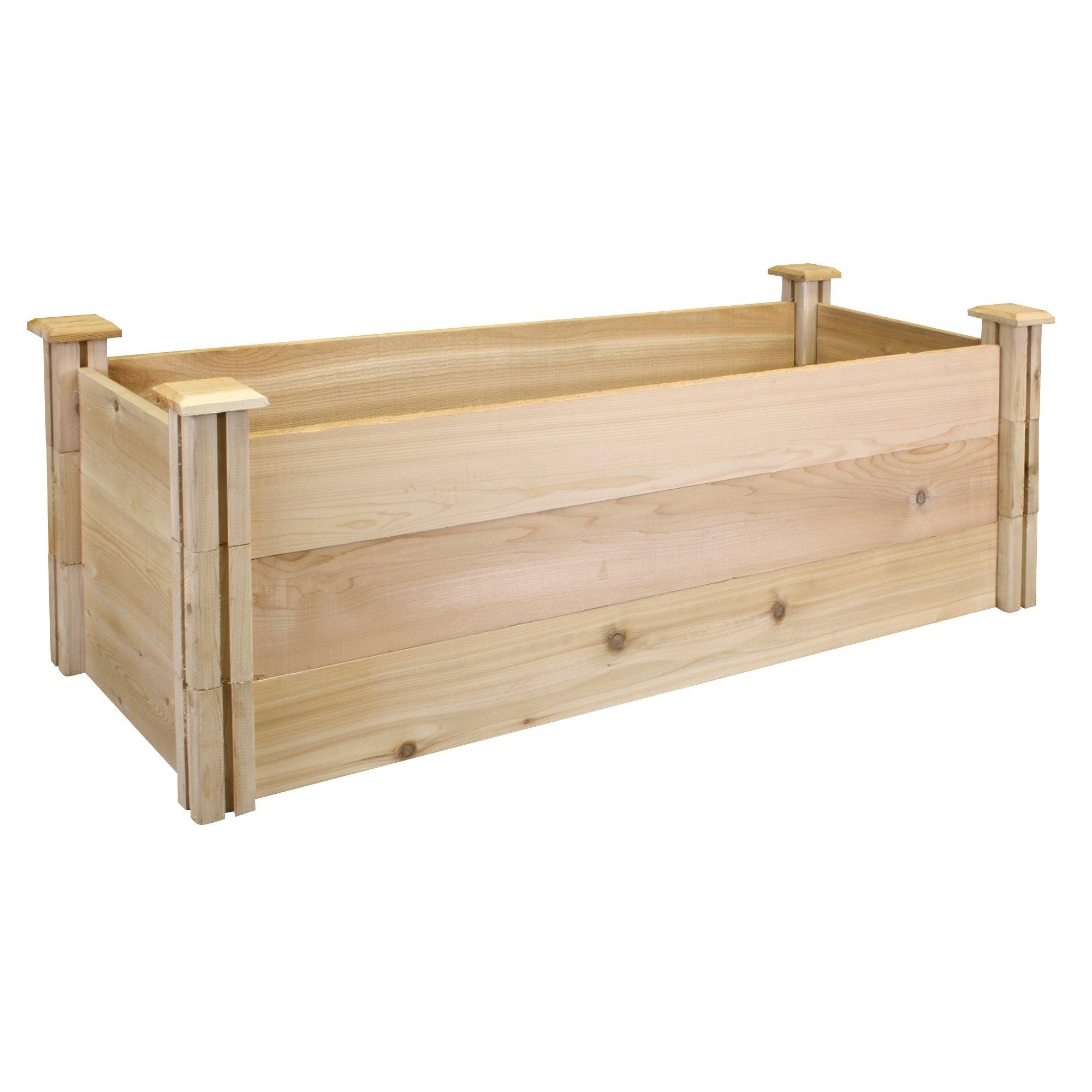 Greenes Fence Premium Cedar Raised Garden Bed, 16'' x 48'' x 16.5''