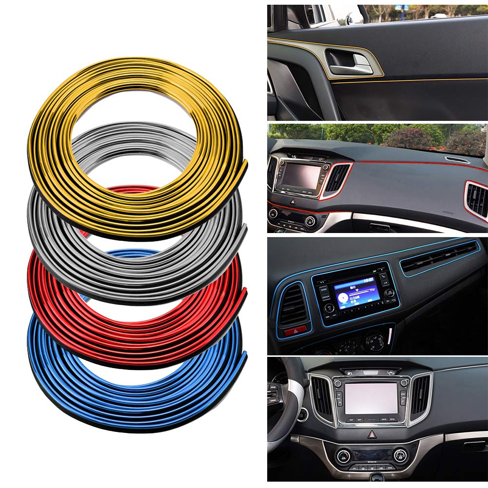 OHOUO 5M Car Interior Moulding Trim Strip Door Gap Edge Decorative Line Auto Accessorie