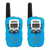 Retevis RT-388 PMR446 Kids Walkie Talkie 0.5W 8 Channel 2 Way Radio for Children with Flashlight (Sky Blue,1 Pair)