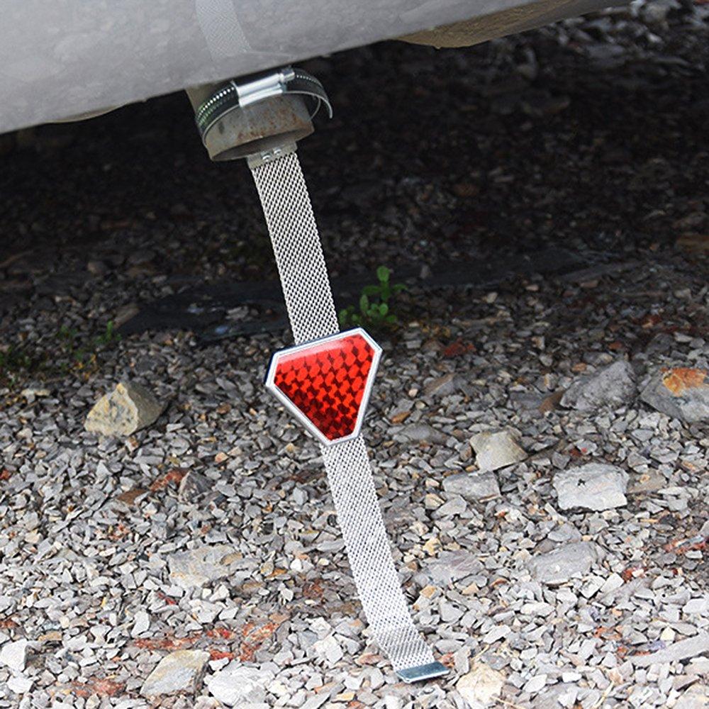 Tiras reflectantes para exterior de coche con tiras antiestáticas (rojo): Amazon.es: Coche y moto