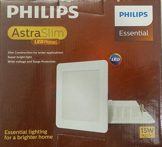 Philips AstraSlim 15 watts Square LED Panel Light (Warm White/Golden Yellow) & Buy Philips AstraSlim 15 watts Square LED Panel Light (Warm White ...