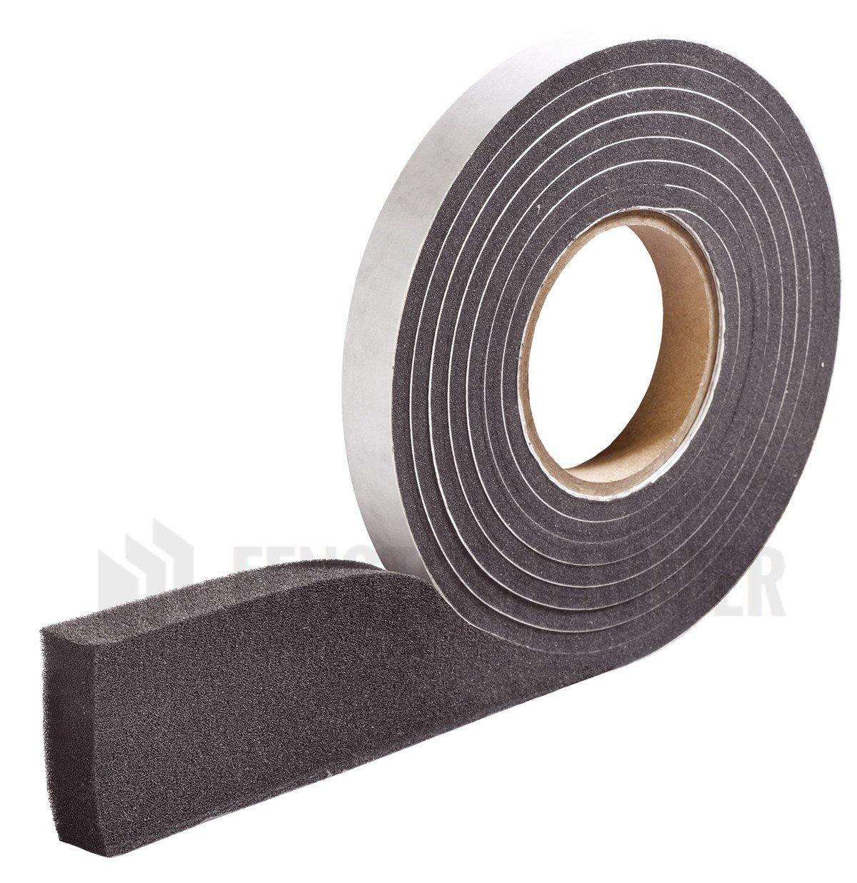 HANNOBAND BG1 Kompriband 20/1,5-2,5 Fugendichtband 600 Pa Quellband Fensterband Fugenband - 12m Rolle, grau