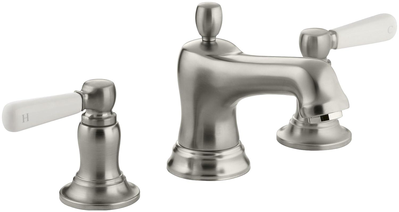 KOHLER K-10577-4P-CP Bancroft Widespread Lavatory Faucet, Polished ...
