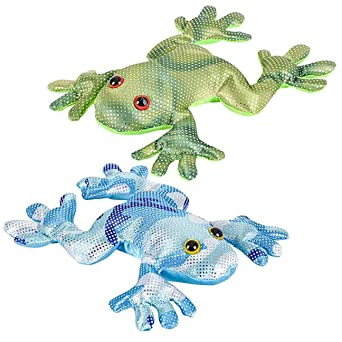 Sand Filled Stuffed Animals, Amazon Com Set Of 2 Frog Sand Filled Animal Toy Heavy Weighted Sandbag Animal Plush Bean Bag Toss Shimmering Glitter Sensory Stress Fidget Toy Adhd Special Needs Soothing Industrial Scientific