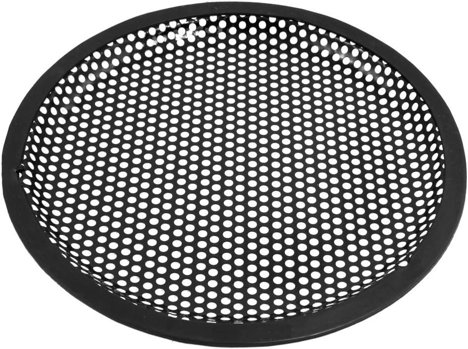 Black Kcopo Subwoofer Enclosure Protector Car Speaker Grill Cover Mounting Clips for Car 10/Inch Single