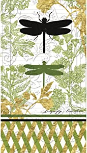 Cypress Home Garden Botanical Embossed Guest Towel, Set of 15-8 x 1 x 5 Inches