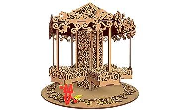 Kit para hacer calesita de madera DM para candy bar mesa dulce. Manualidades con madera: Amazon.es: Juguetes y juegos